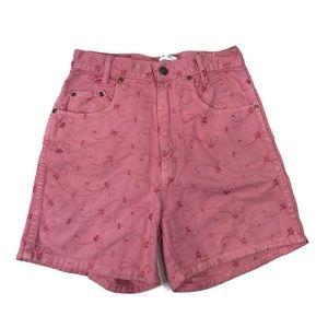 Vintage Michael Pink Eyelet High Waist Shorts